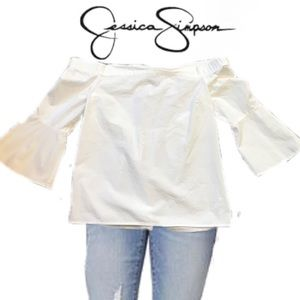 Jessica Simpson Off the Shoulder White Top Sz. Sm